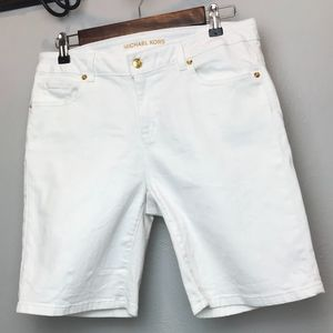 Michael Kors   White Denim Bermuda Shorts